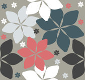 Seamless pattern with decorative flowers vector illustration