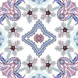 Seamless pattern with decorative leaves and elements Royalty Free Stock Photography