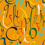 Seamless pattern with decorative letters Stock Photos