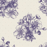 Seamless pattern with decorative magnolias. Flowers. Vector floral background stock illustration