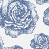 Seamless pattern with decorative magnolias. Flowers. Vector floral background Stock Image