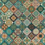 Seamless pattern with decorative mandalas. Vintage mandala elements. Colorful patchwork. Seamless pattern with decorative mandalas. Vintage mandala elements Royalty Free Stock Photography