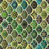 Seamless pattern with decorative mandalas. Vintage mandala elements. Colorful patchwork. Seamless pattern with decorative mandalas. Vintage mandala elements Stock Photo