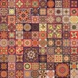 Seamless pattern with decorative mandalas. Vintage mandala elements. Colorful patchwork. Seamless pattern with decorative mandalas. Vintage mandala elements Royalty Free Stock Photo