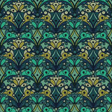 Seamless pattern with decorative ornament, vector illustration vector illustration