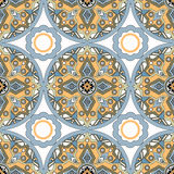 Seamless pattern with decorative ornamental elements illustration Stock Images