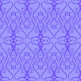 Seamless pattern from decorative outline elements Stock Images