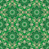 Seamless pattern. Decorative pattern in beautiful beige and emerald colors. Vector illustration Royalty Free Stock Photos