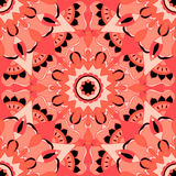 Seamless pattern. Decorative pattern in beautiful salmon and black colors. Vector illustration Royalty Free Stock Photos
