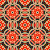 Seamless pattern. Decorative pattern in bright colors. Vector background Royalty Free Stock Photo