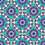 Seamless pattern. Decorative pattern in bright colors. Vector background Stock Photography