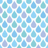 Seamless pattern with decorative raindrops. Stock Photo