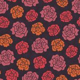 Seamless pattern with decorative roses Stock Photos