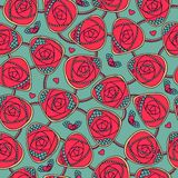 Seamless pattern with decorative roses Royalty Free Stock Photography