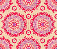 Seamless pattern. Decorative rosettas in hexagon pattern Royalty Free Stock Photos