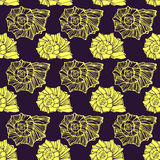 Seamless pattern with decorative seashells Stock Photo