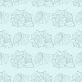 Seamless pattern with decorative shells Royalty Free Stock Photography