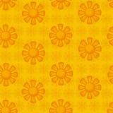 Seamless pattern. decorative suns. Royalty Free Stock Photography