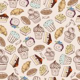 Seamless pattern. Decorative sweet cakes Royalty Free Stock Photo