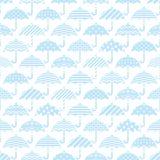 Seamless pattern with decorative umbrellas. Royalty Free Stock Photo