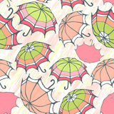 Seamless pattern with decorative umbrellas Stock Image