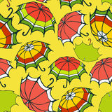 Seamless pattern with decorative umbrellas Royalty Free Stock Photography