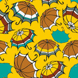 Seamless pattern with decorative umbrellas Stock Photo