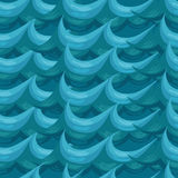Seamless pattern. decorative wave. shades of blue Stock Image