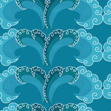 Seamless pattern. decorative wave.shades of blue Stock Photo