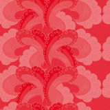 Seamless pattern. Decorative wave. Shades of red. Royalty Free Stock Photos