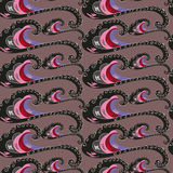Seamless pattern. decorative wave. Varicoloured Stock Photos