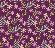 Seamless, pattern on deep red color. Stock Photo