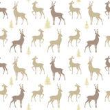 Seamless pattern deer Stock Image