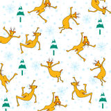 Seamless pattern with deer Royalty Free Stock Images