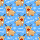 Seamless pattern with deer Stock Photos