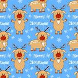 Seamless pattern with deer Royalty Free Stock Image