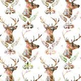 Seamless pattern with Deer. Deer illustration. royalty free illustration