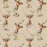 Seamless pattern with Deer. Deer illustration. stock illustration