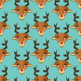 Seamless pattern with deer Royalty Free Stock Photos