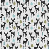 Seamless pattern with deer Stock Images