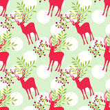Seamless pattern with deer Royalty Free Stock Photography