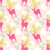 Seamless pattern with deer Stock Photography