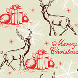 Seamless pattern with deer Stock Image