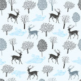 Seamless pattern with deers. Royalty Free Stock Photography