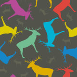 Seamless pattern with deers Royalty Free Stock Photos