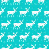 Seamless pattern with deers. Christmas background Royalty Free Stock Image