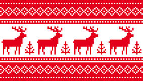 Seamless pattern with deers Royalty Free Stock Photography