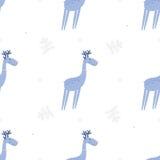 Seamless pattern deers Royalty Free Stock Image