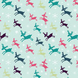 Seamless pattern with deers Stock Photo