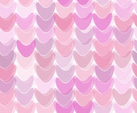 Seamless pattern with deformed hearts or tubs Royalty Free Stock Images